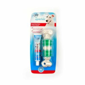 All For Paws - Sparkle Dental Brush Bone with Toothpaste