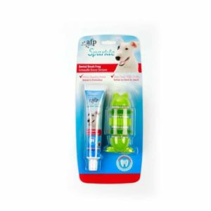 All For Paws - Sparkle Dental Brush Frog with Toothpaste