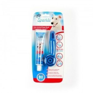 All For Paws - Sparkle Dental Palm Assisted Finger Brush with Toothpaste