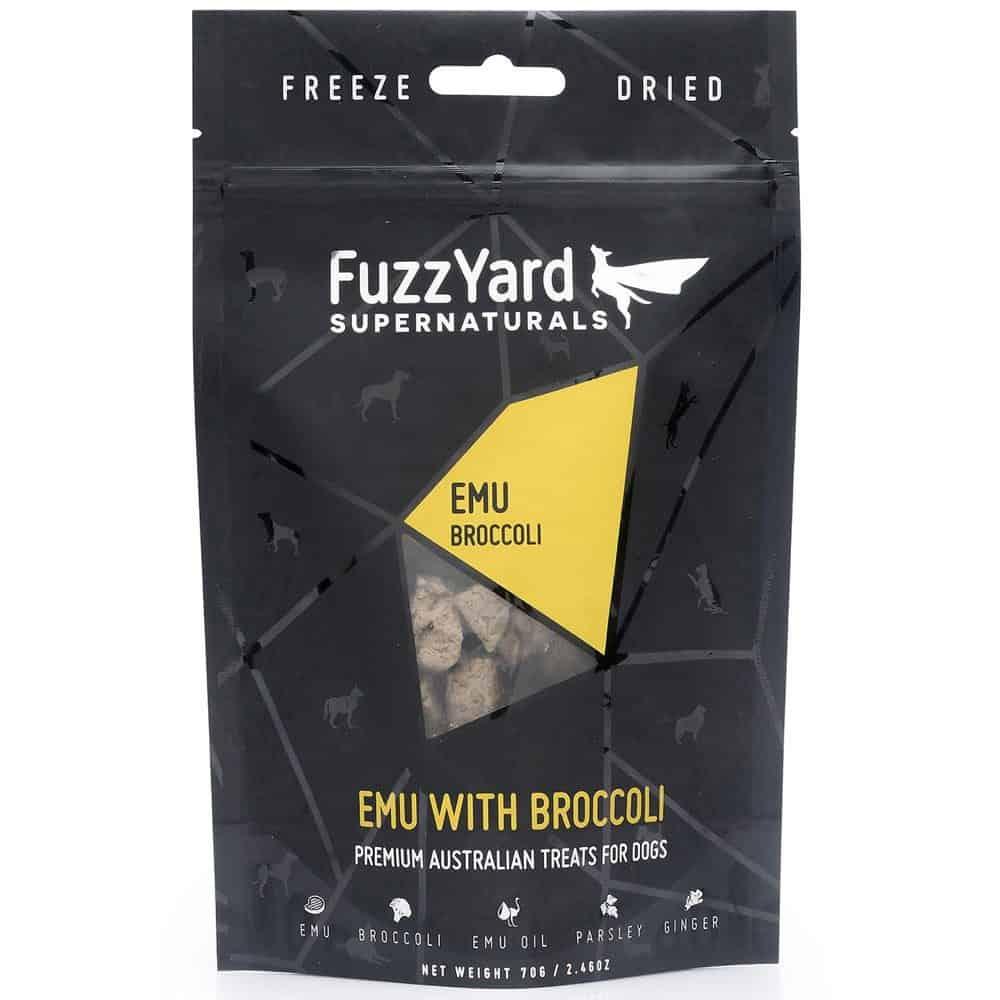 Fuzzyard Supernaturals Treats - Emu with Broccoli