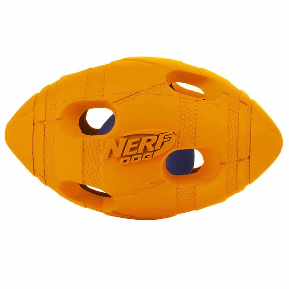 Nerf Dog - Light Up Bash Football Small