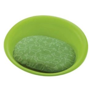 Ricell Oval Plastic Pet Bed - Green