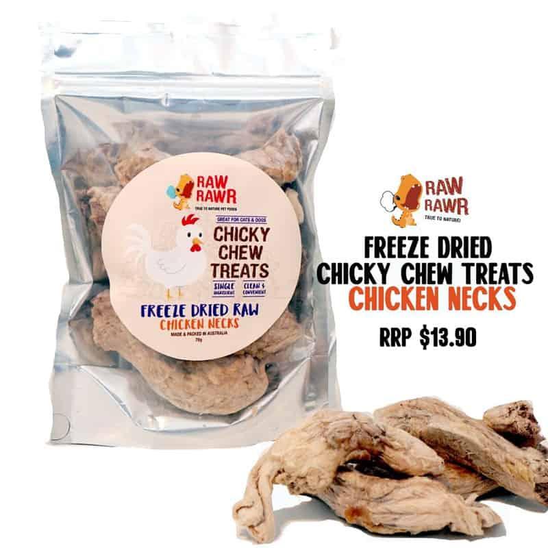 Raw Rawr Freeze Dried Treats Chicken Necks