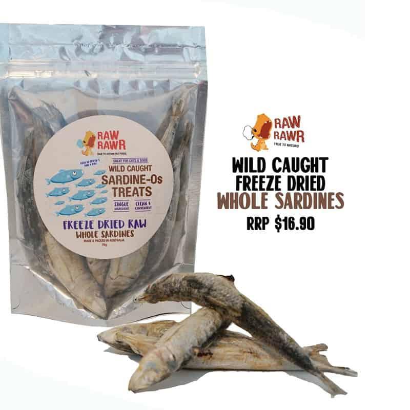 Raw Rawr Freeze Dried Treats Whole Sardines