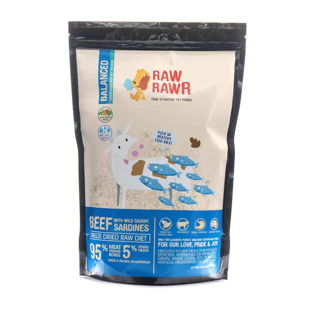 Raw Rawr Freeze Dried Balanced Beef and Sardine