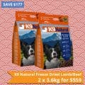 K9 Natural Freeze Dried Lamb/Beef – 2 x 3.6kg for $559